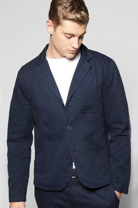 Slim Fit Worker Blazer