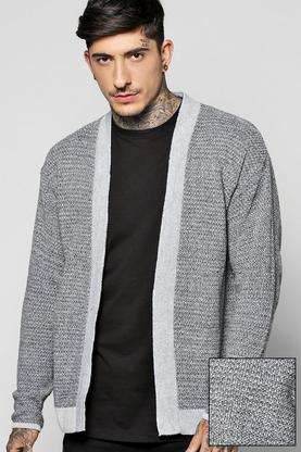 Mixed Yarn Edge to Edge Cardigan