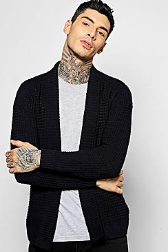 Textured Knit Edge to Edge Cardigan