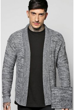 Boucle Knit Edge to Edge Cardigan