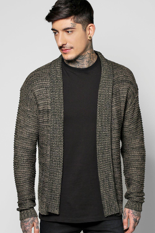 Knit Edge to Edge Cardigan  khaki