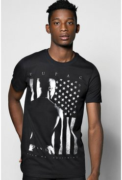 Tupac Stars/Stripes License T-Shirt