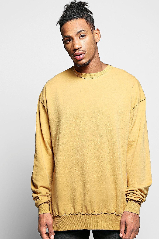 Oversized Longline Sweatshirt | Boohoo