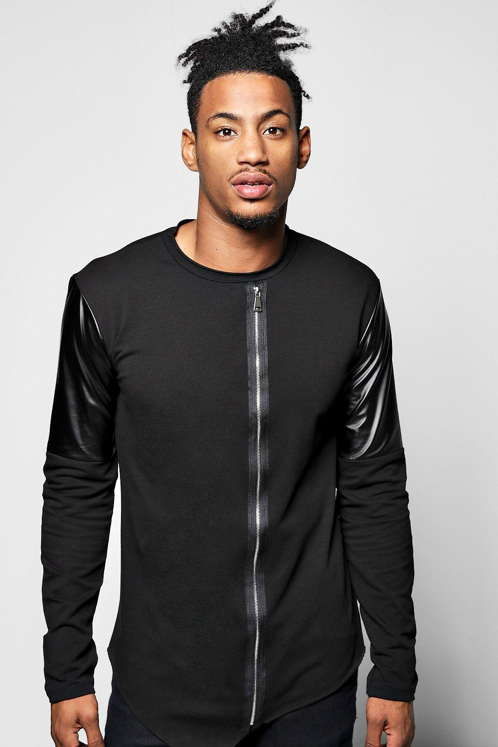 Asymetric Biker Jumper with Zip Front