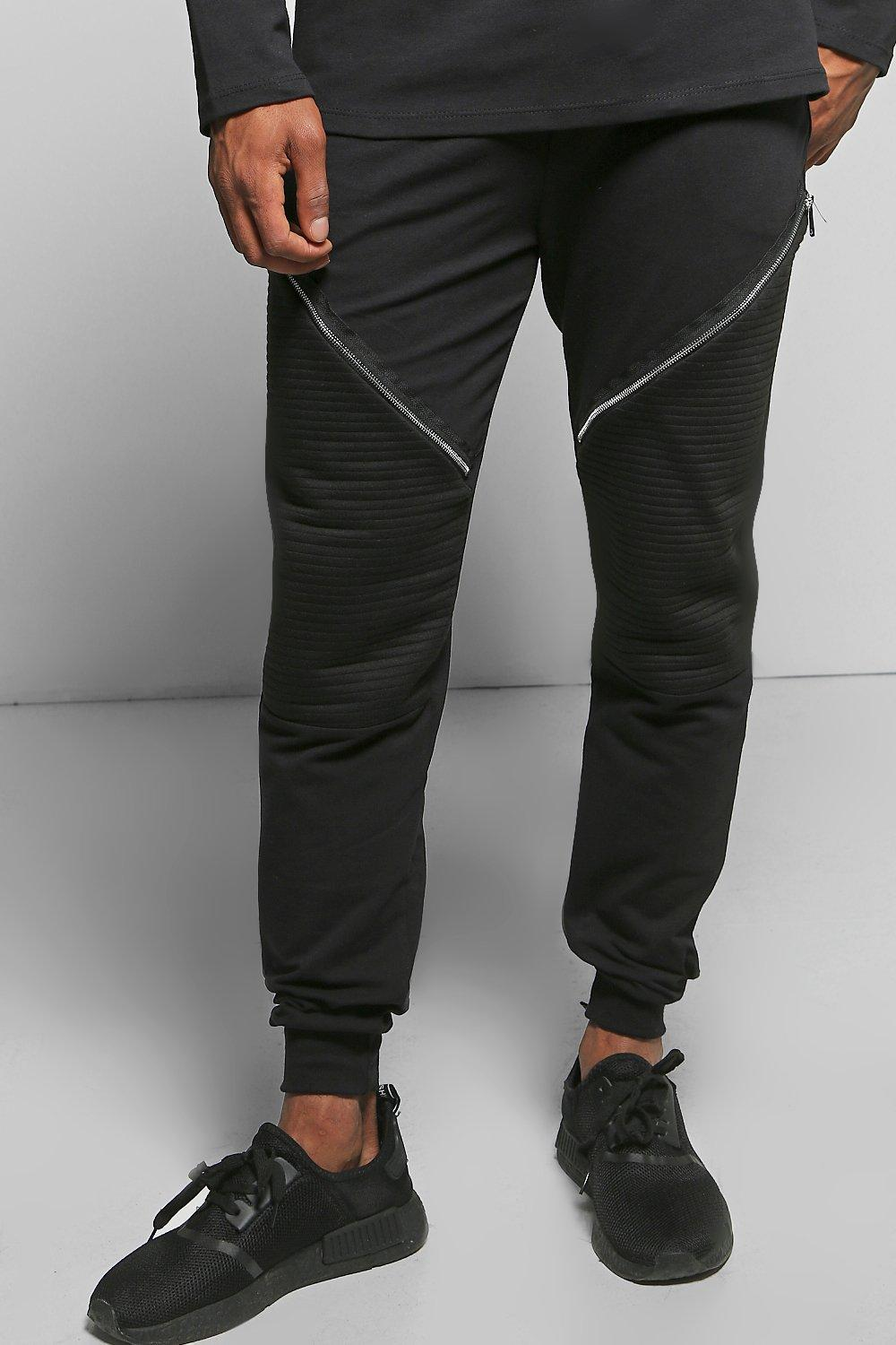Skinny Fit Biker Jogger with Zips