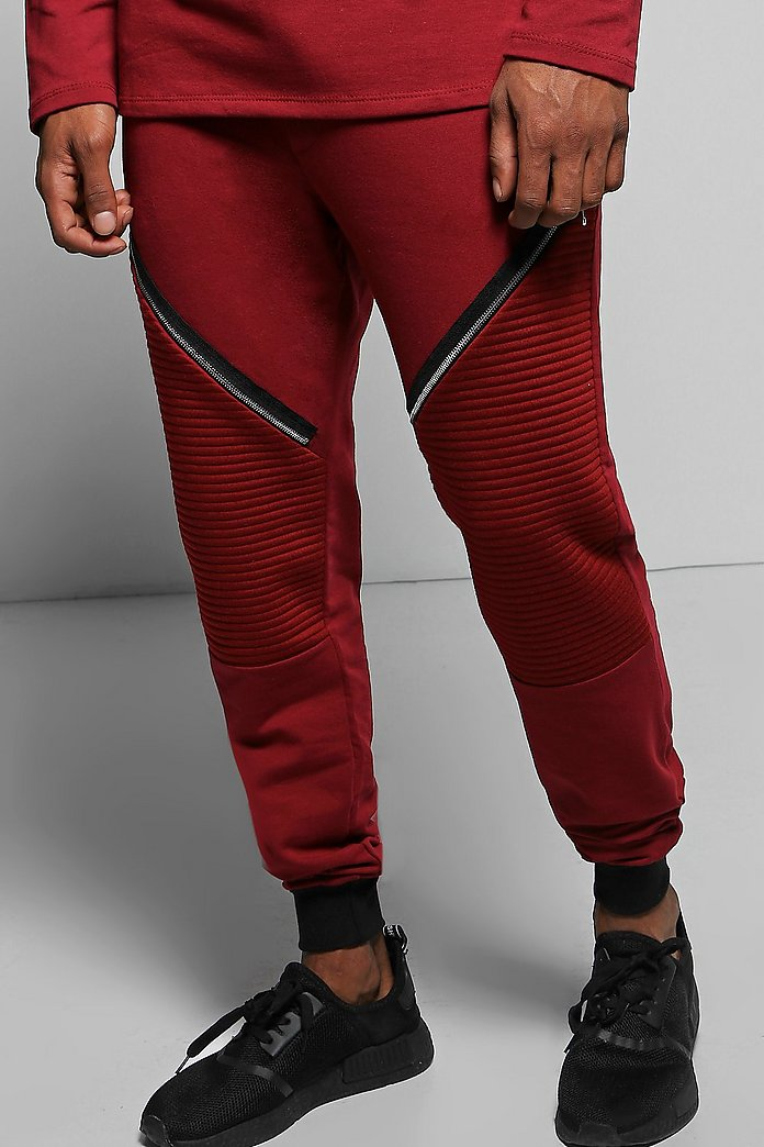 Skinny Fit Biker Joggers with Zips