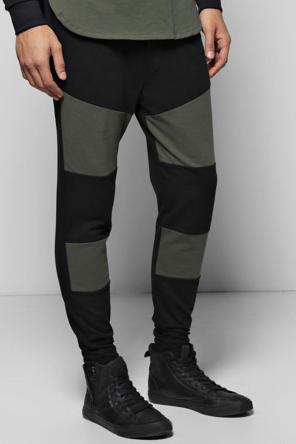 Skinny Fit Colour Block Joggers