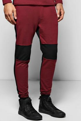 Skinny Fit Joggers with Raw Edges
