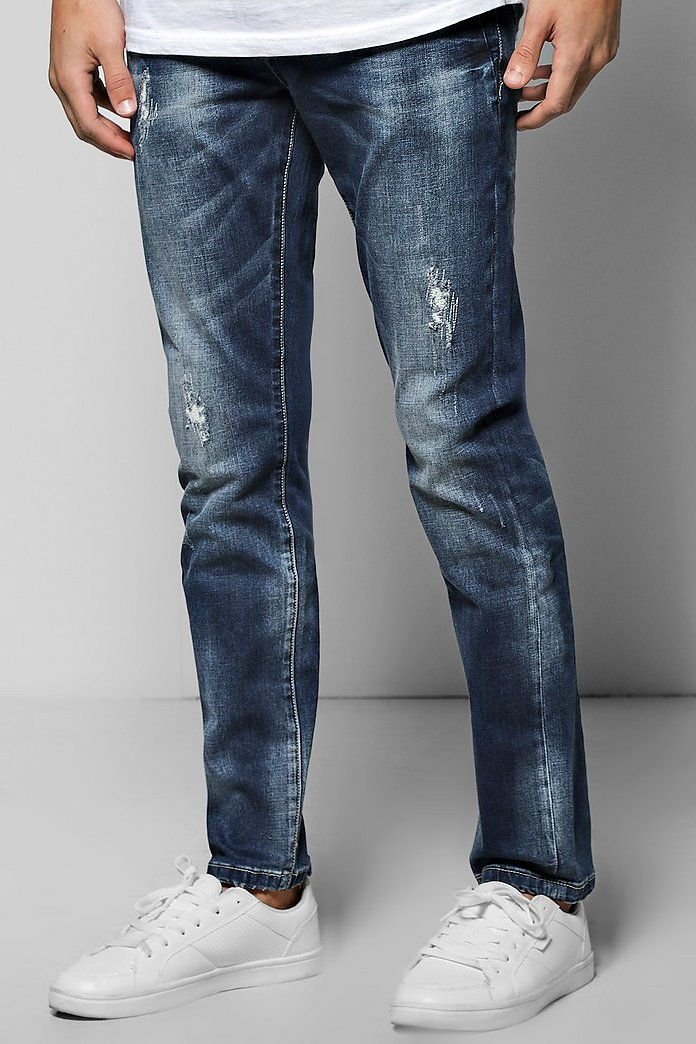 Skinny Fit Destroyed Effect Jean