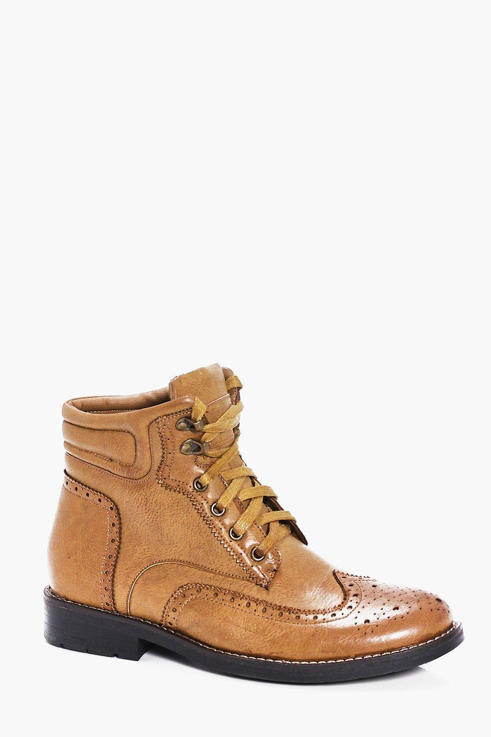 Brogued Lace Up Smart Boots