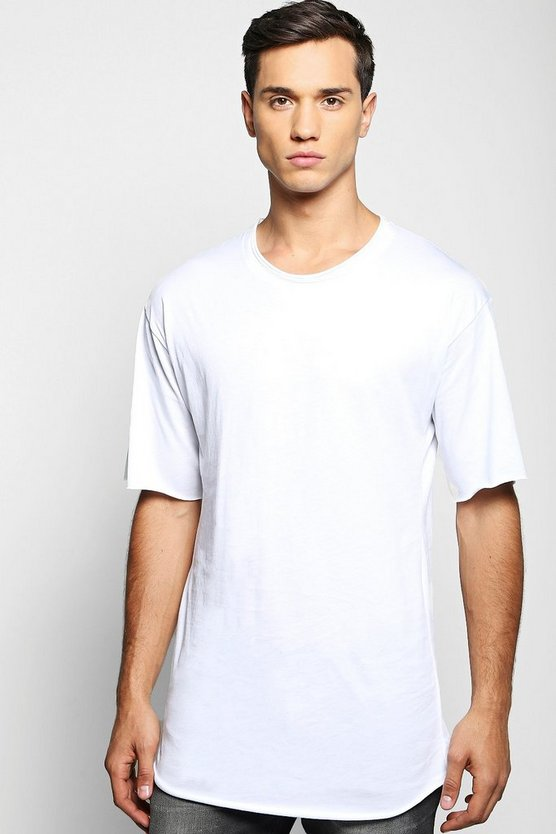 Premium Oversized T-Shirt with Raw Edge