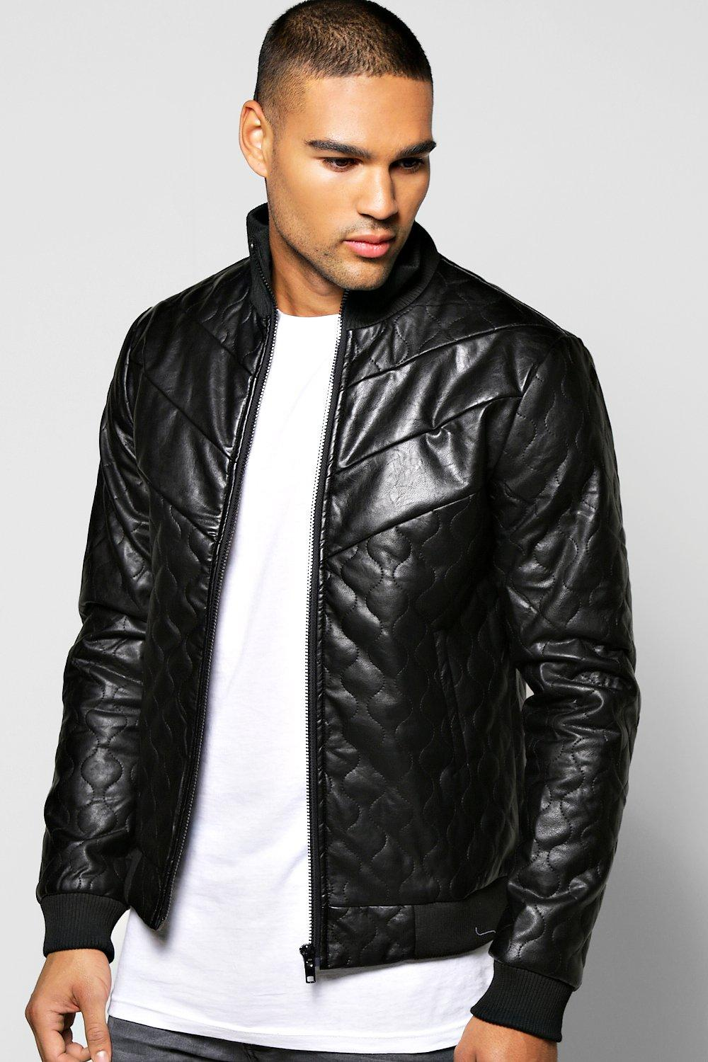 Quilted PU Bomber