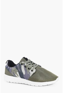 Camo Mesh Runner Trainers