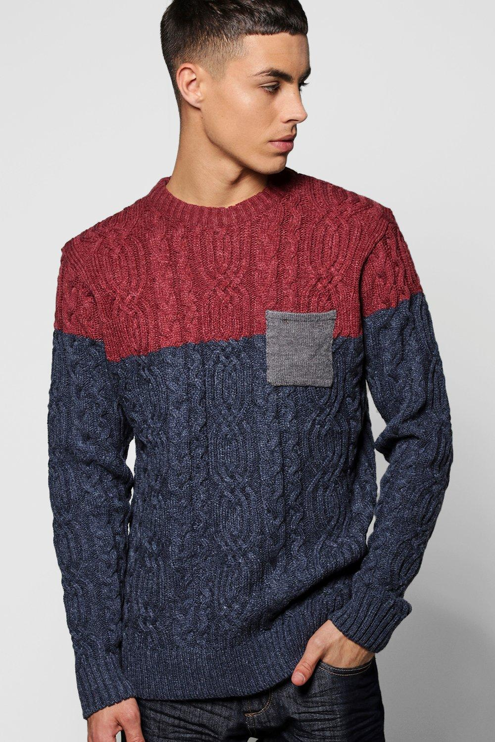 Nepped Jumper with Fairisle Sleeves