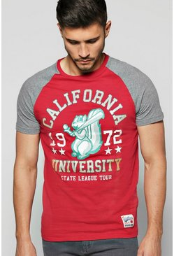 Raglan T-Shirt with Front Print