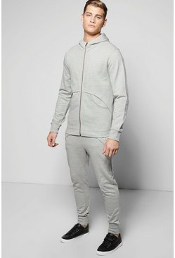 Skinny Fit Tracksuit with Snorkel Neck