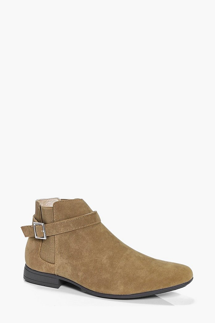 Buckled Suedette Chelsea Boot