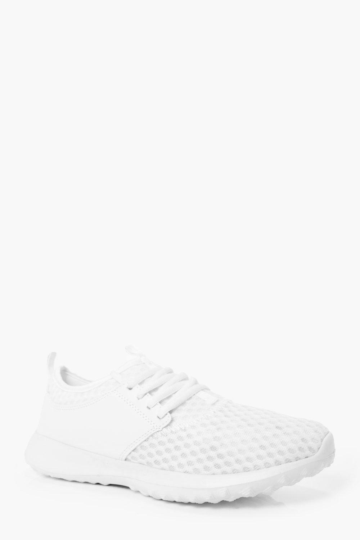 Product photo of Mesh running trainers white