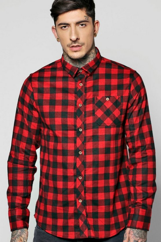 Long Sleeve Buffalo Check Shirt