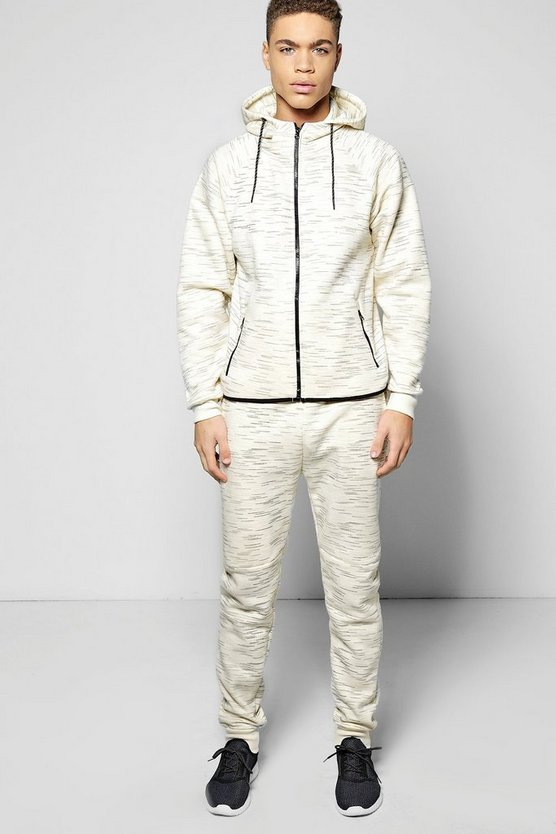 Space Dye Hoodie with Scoop Hem Tracksuit
