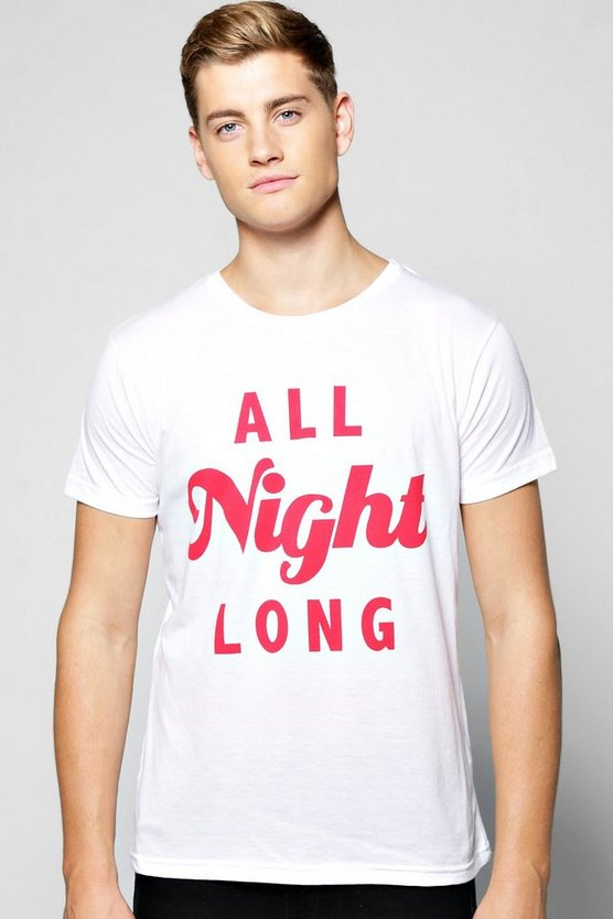 All Night Long Short Sleeve T-Shirt