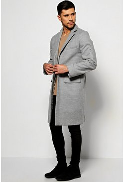 Wool Look Overcoat