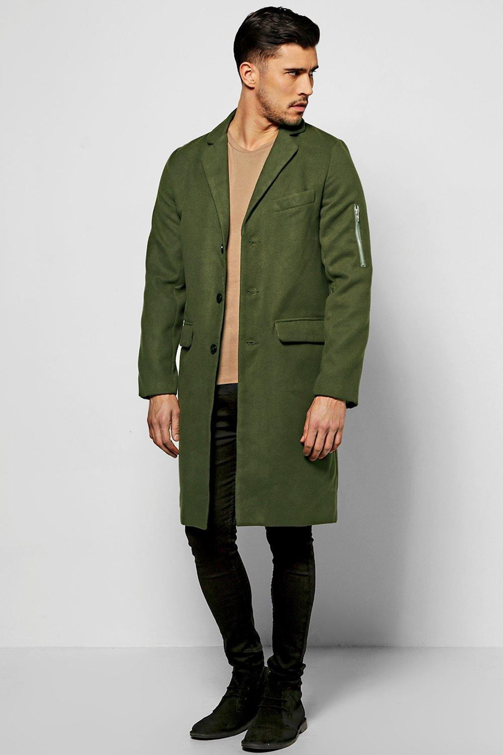Wool Look MA1 Overcoat