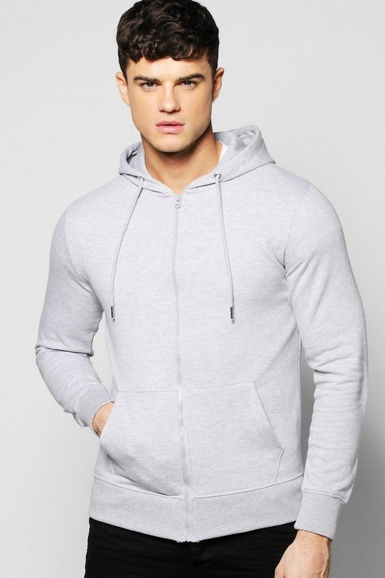 Basic Zip Through Hoodie
