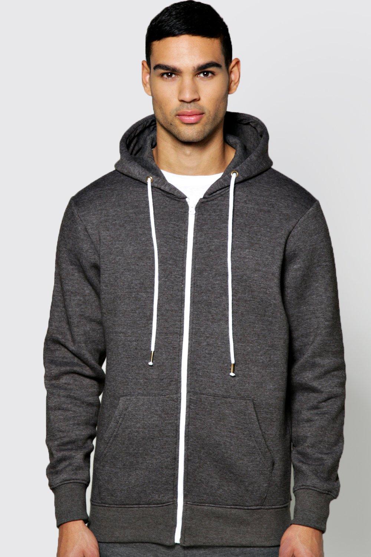 boohoo mens zip through hoodie ebay