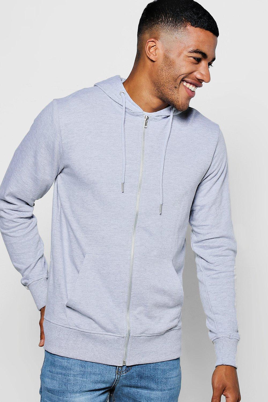 boohoo mens zip through hoodie