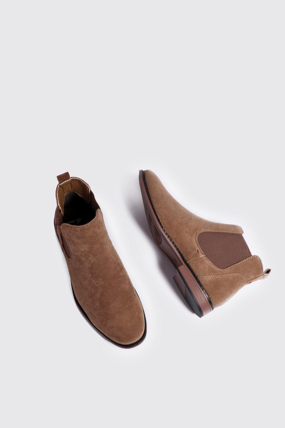 boohoo mens faux suede chelsea boots ebay
