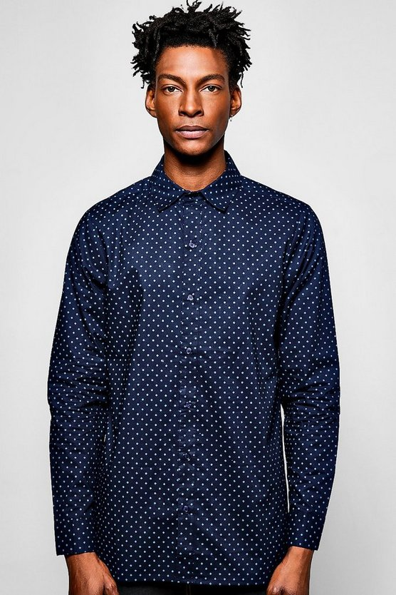 Long Sleeve Geo Shirt