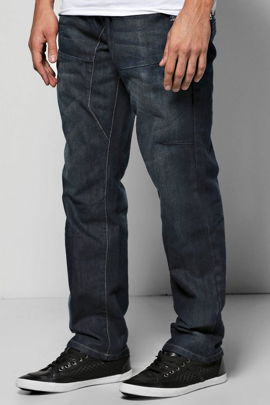 Tapered Fit Rigid Denim Indigo Jeans