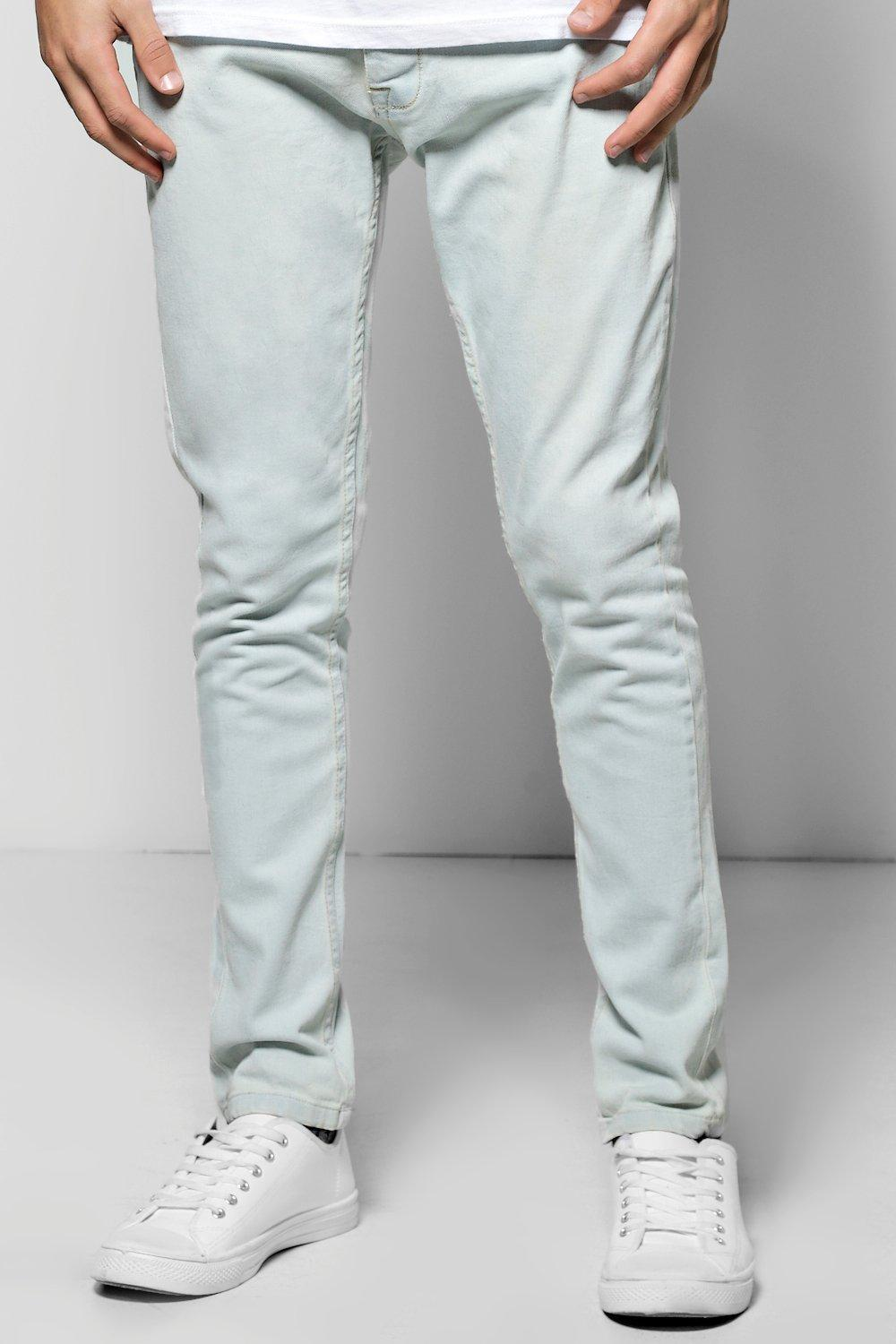 Stretch Skinny Fit Pale Blue Jeans