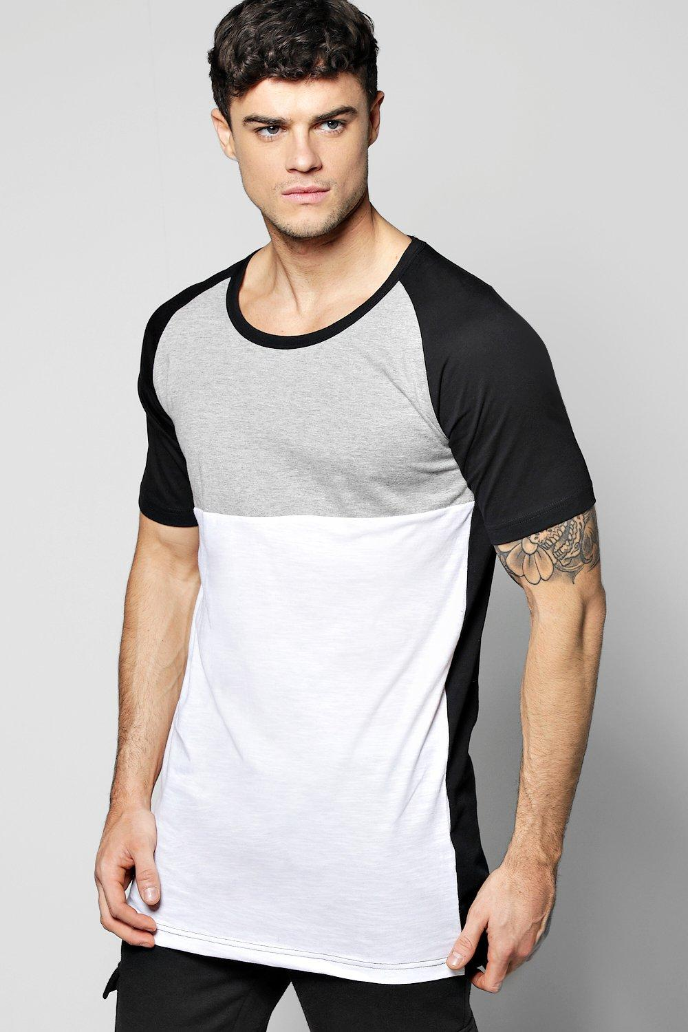 Long Line Scoop Hem Cut And Sew T-Shirt