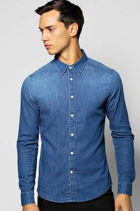 Long Sleeve Denim Shirt