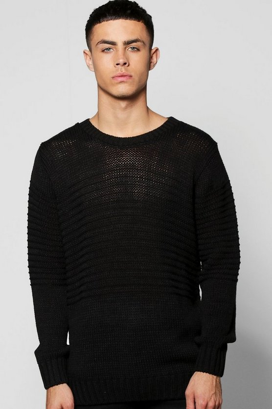 Crew Neck Multi Knit Jumper