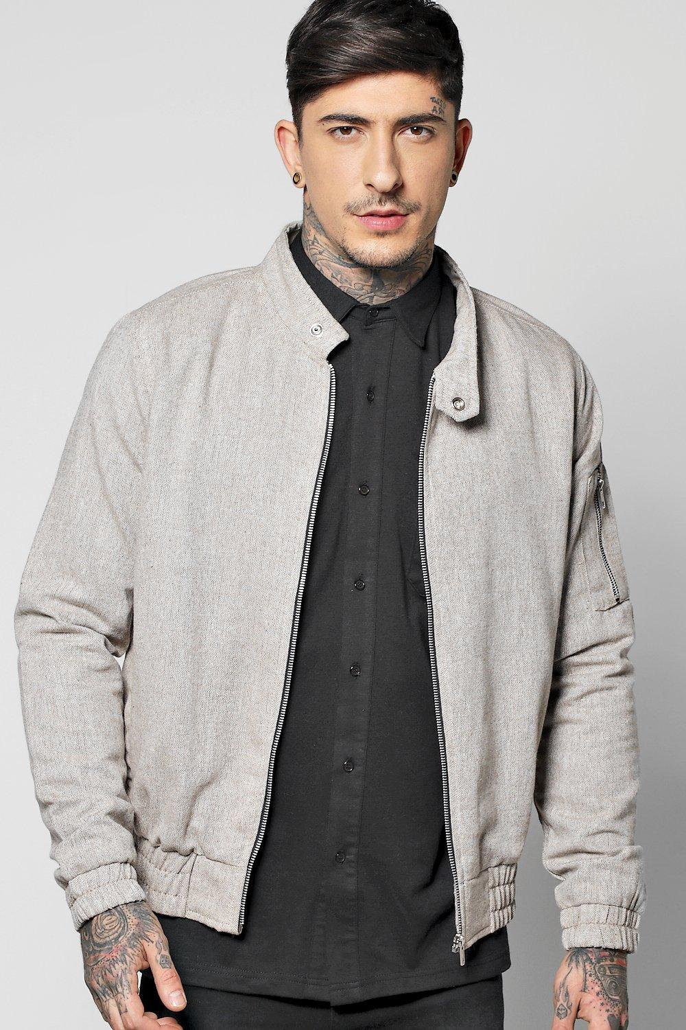 Textured Herrington Jacket