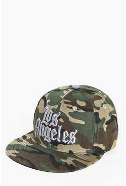 Los Angeles Embroidered Camo Snapback