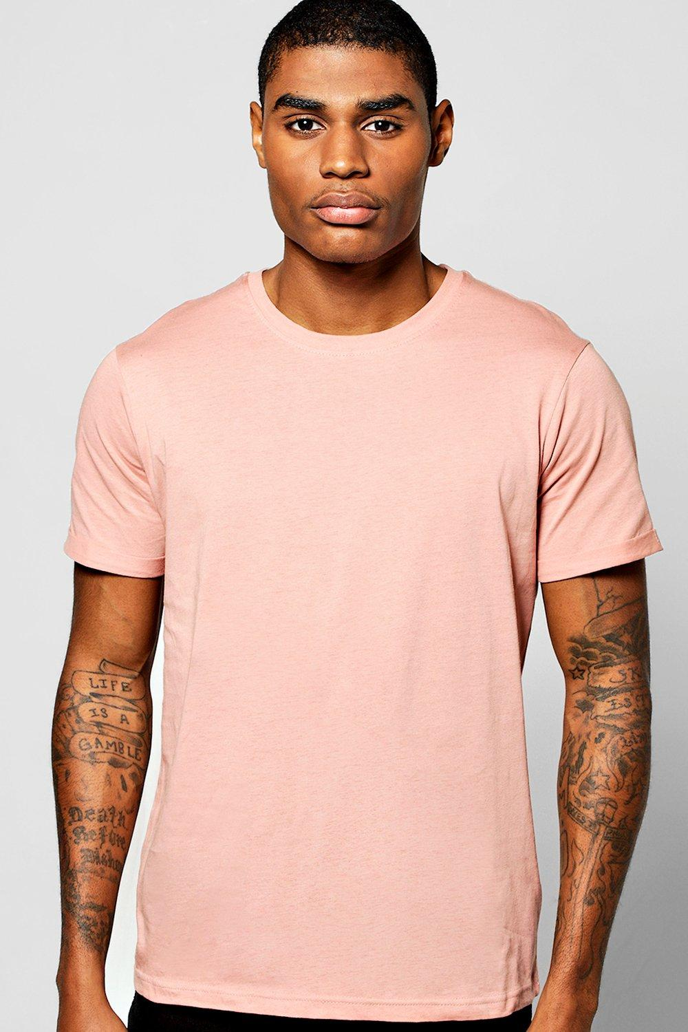 Crew Neck With Rolled Sleeve