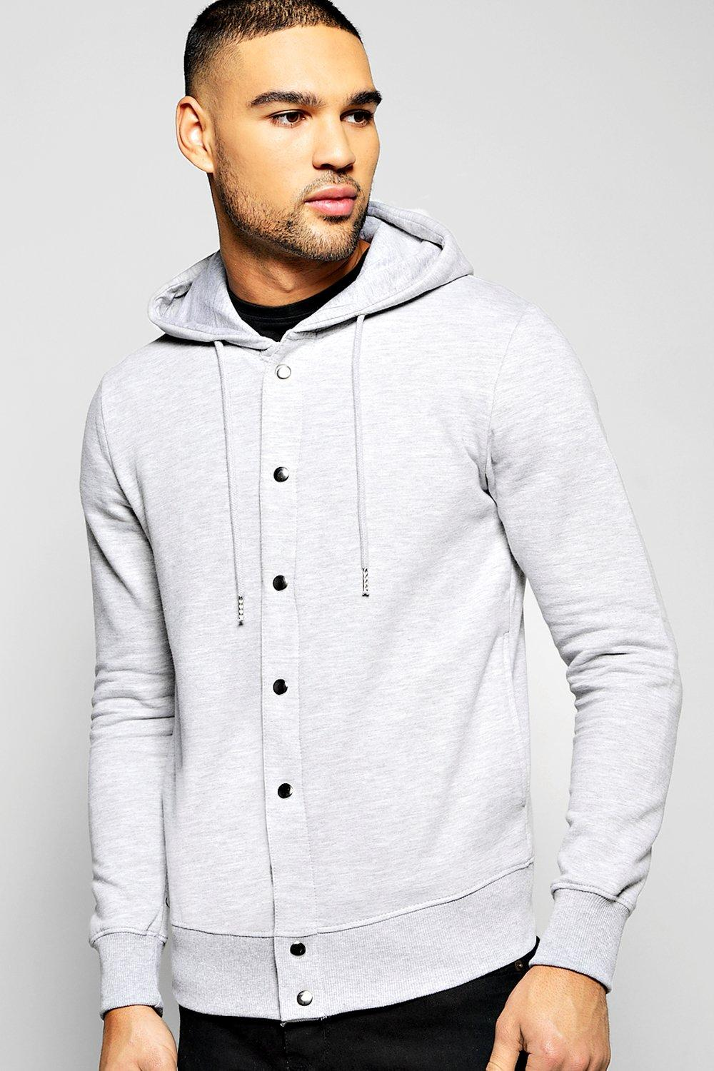 Hoody With Snap Button