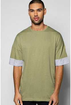 Oversized Cut And Sew Longline T Shirt