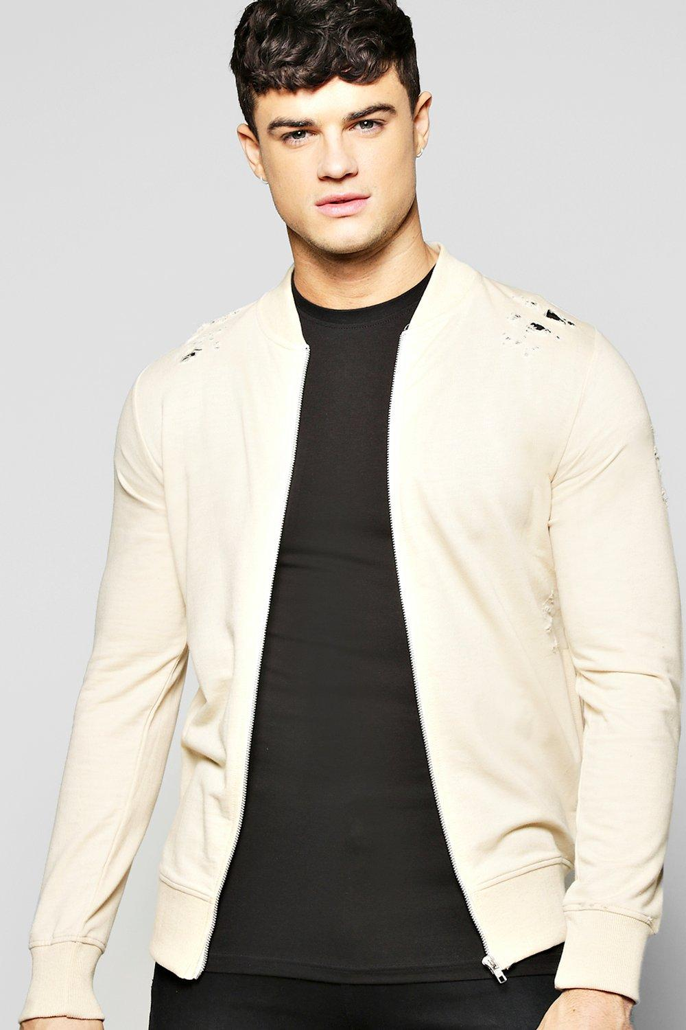 Distressed Jersy Bomber