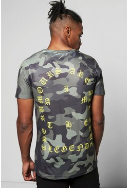 Camo T-Shirt With Back Print