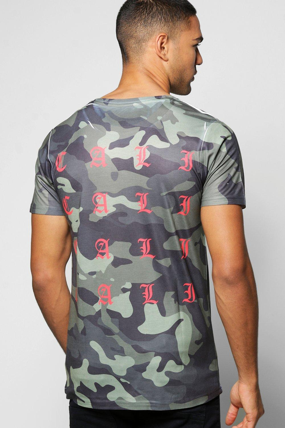 Camo T-Shirt With Cali Back Print