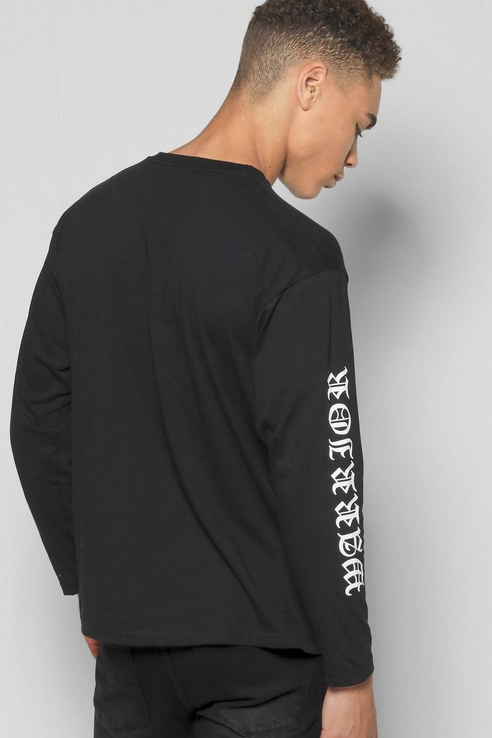 Long Sleeve T-Shirt With Sleeve Print
