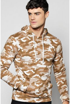 Over The Head Camo Washed Hoodie