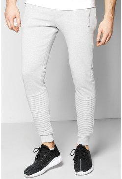 Skinny Fit Biker Joggers With Zip Pockets