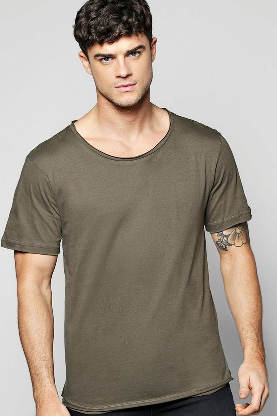 Oversized T Shirt With Slash Seam