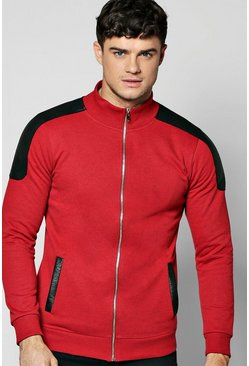 Biker Zip Through Jersey Jacket